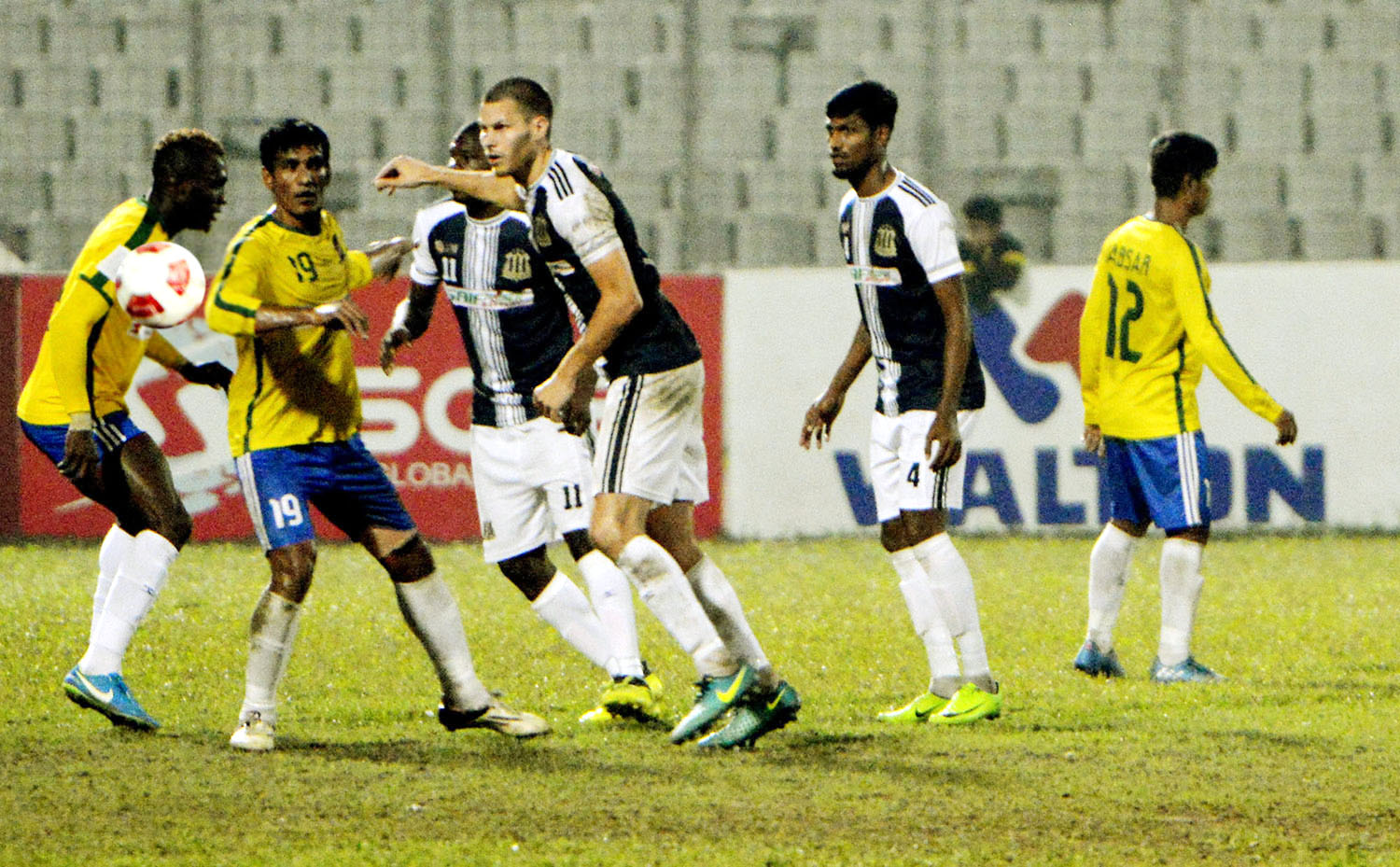sheikh jamal forced to share points in bpl soccer