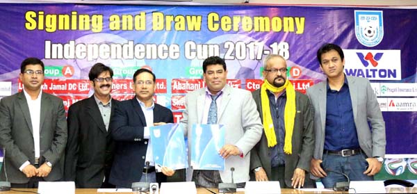 Draw & signing ceremony of   Independence Cup Football held