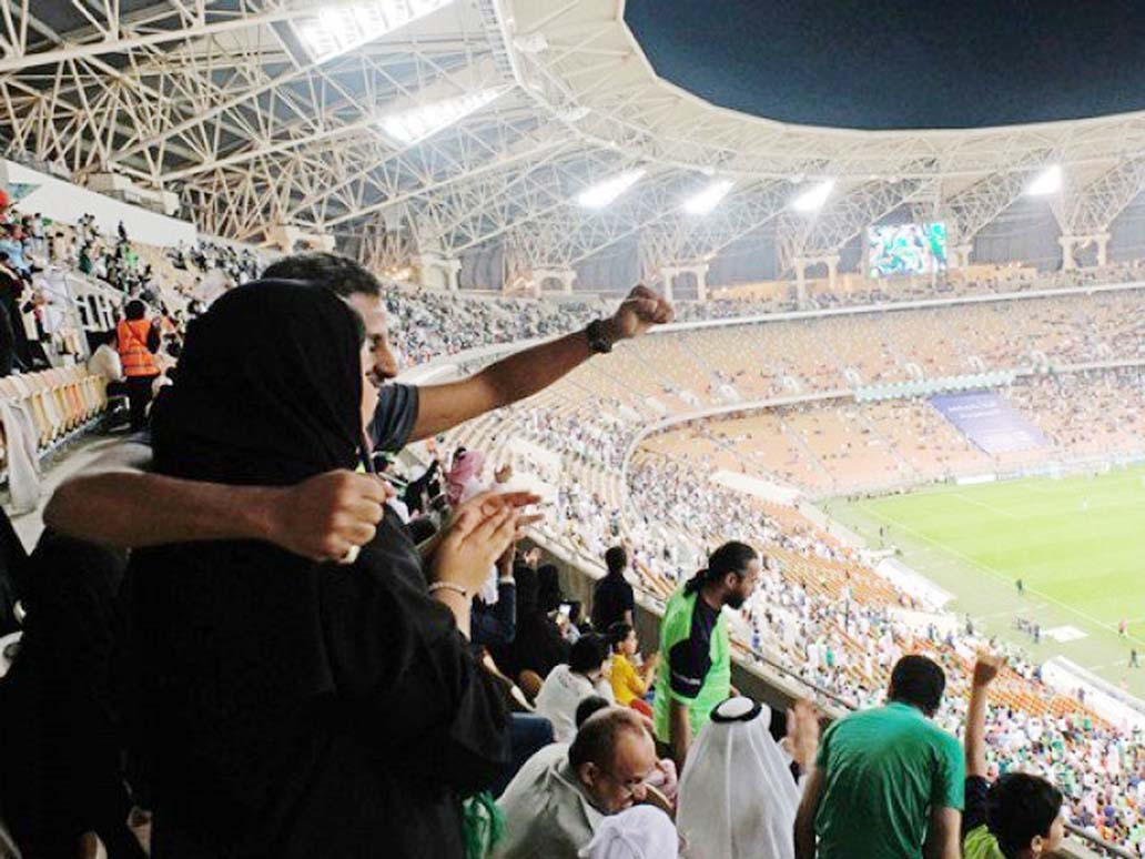 Saudi women score right to watch men's football in stadiums