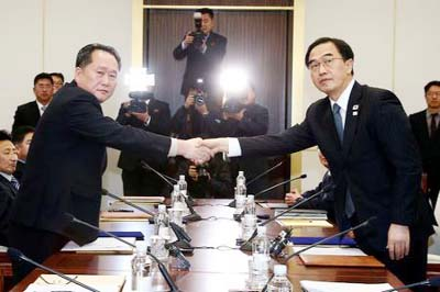 South Korea and North Korea to hold working-level talks