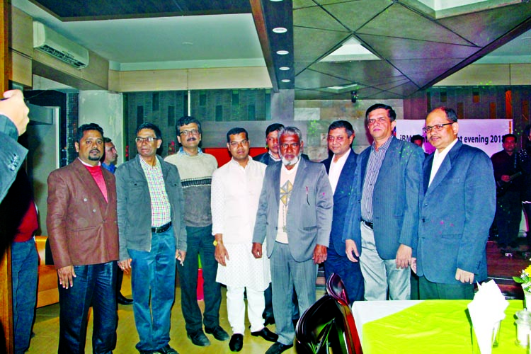 Chairman of IBMS Technology Zulhas Uddin Khan, along with other officials and guests at an entertainment evening-2018 organised recently at a hotel in the city's Gulshan.