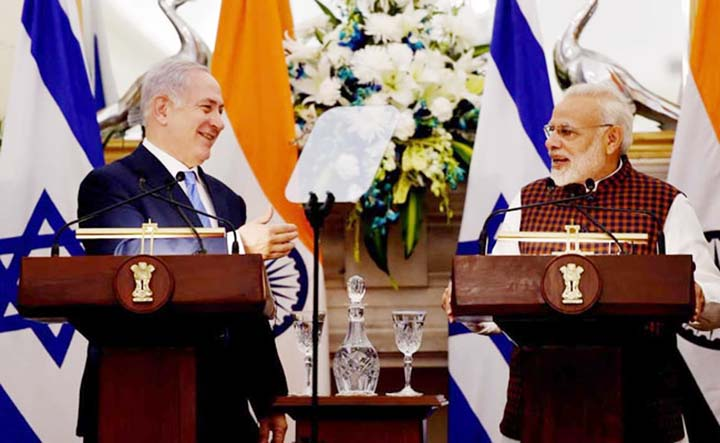 Modi, Netanyahu vow to combat terrorism boost defence ties