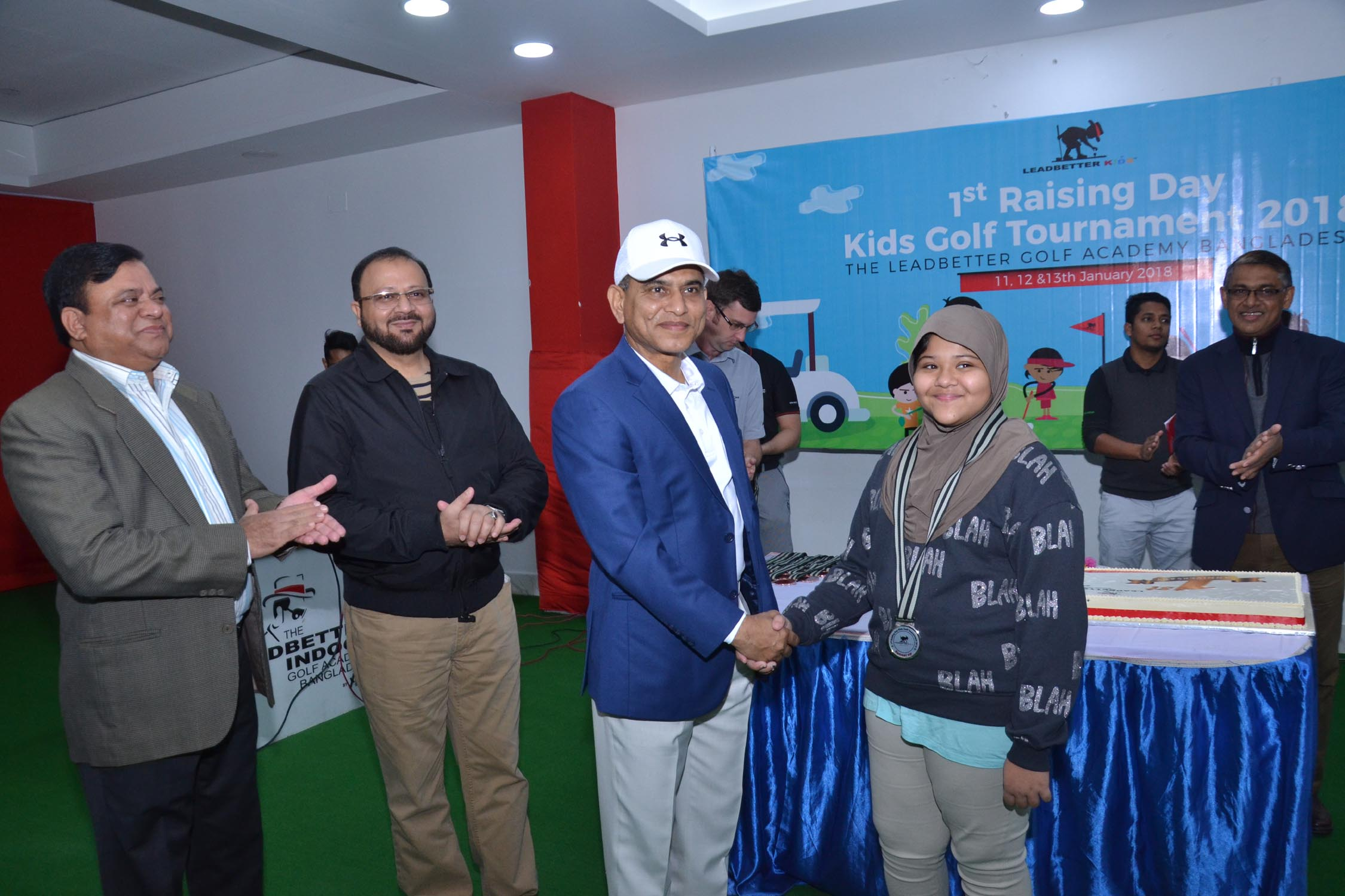 Prize giving ceremony of 3-day long 'Raising Day Kids Golf Tournament 2018' held at the Leadbetter Golf Academy Bangladesh on Saturday (January 13). The Leadbetter Golf Academy arranged the tournament from January 11 to 13. Over 150 students took part in the tournament.