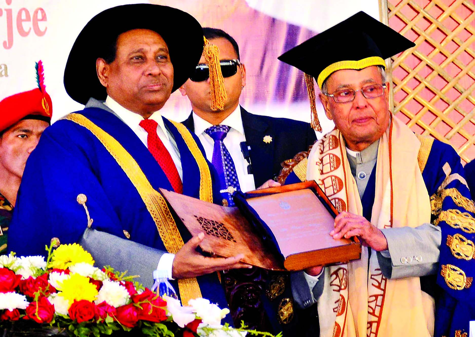 CU confers D. Litt degree on Pranab