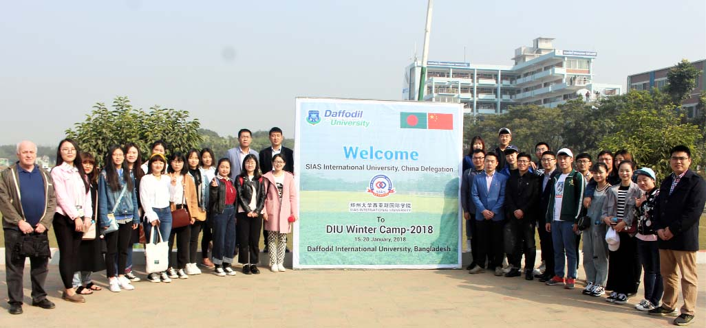 32 Chinese students attend DIU Winter Camp -2018