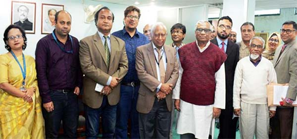 Participants of three-day long Pear review activities of the Premier University, Chittagong  posed for a photo session  at the concluding programme arranged by Computer Science and Engineering Department recently.