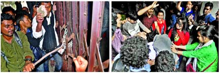 DU VC kept confined for four hours