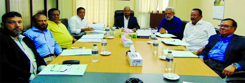 Md. Rezaul Karim, Chairman of Shippers' Council of Bangladesh, presiding over its 1st Board of Directors meeting at its office in the city on Sunday. Ariful Ahsan, Senior Vice-Chairman, Md. Munir Hossain Vice-Chairman, Arzu Rahman Bhuiyan, Afsar Uddin Ahmed, AKM Aminul Mannan (Khokon), Mohammad Shahjahan Khan and Ziaul Islam, Directors of the organisation among others were present.