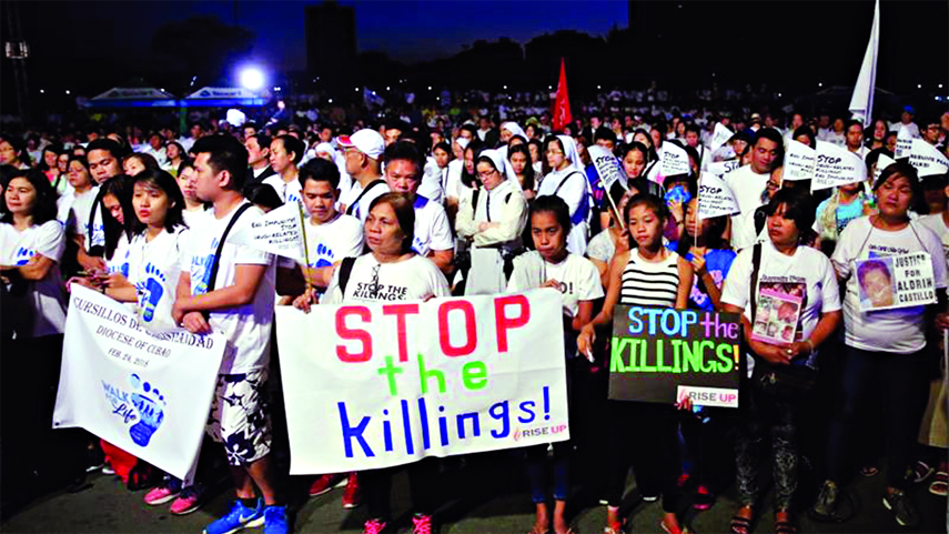 Thousands protest deadly drug war in the Philippines