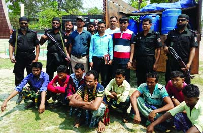 PATUAKHALI: RAB arrested seven persons from Toll Plaza in the town with 7 lakh pieces fish fries yesterday.