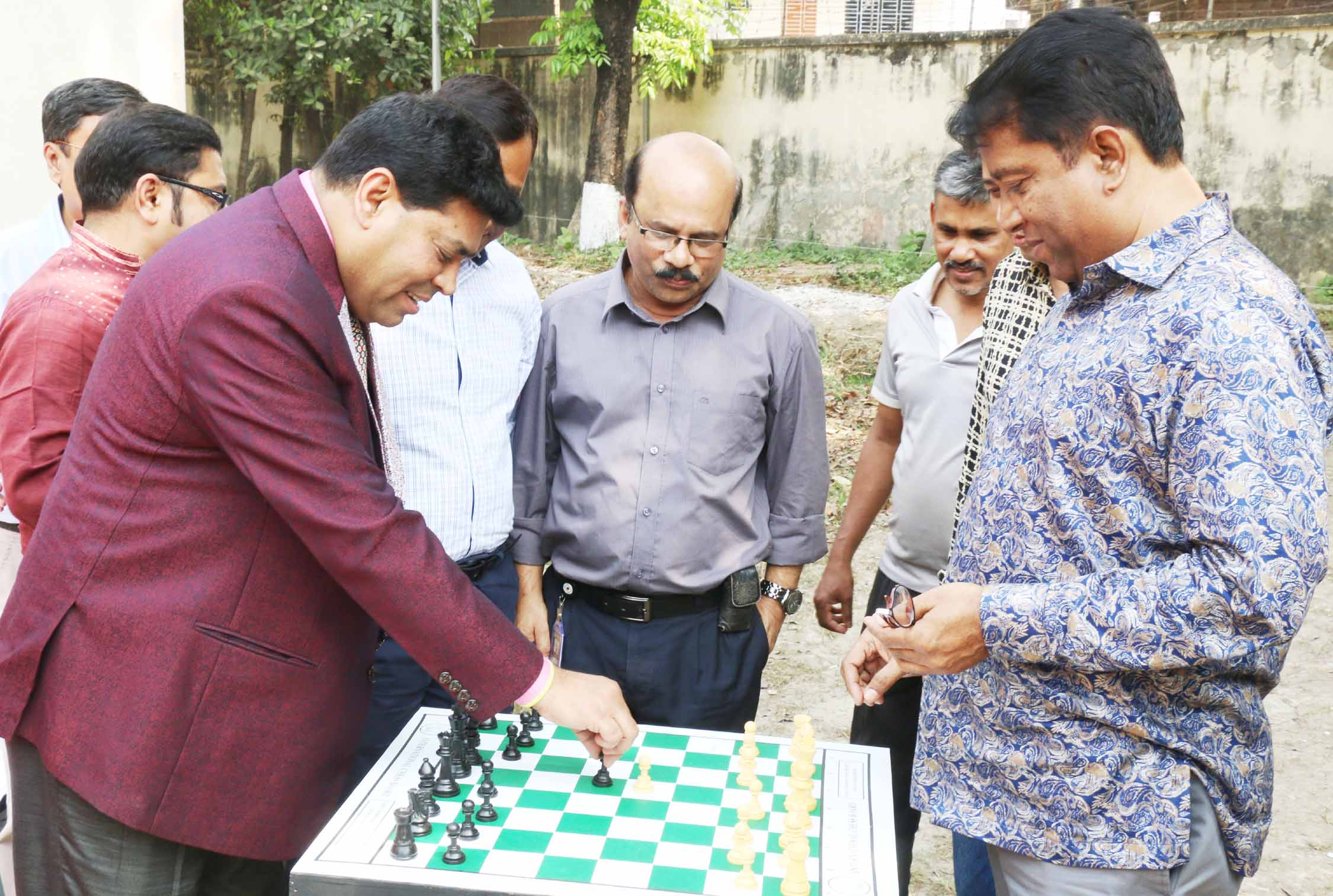 Operative Director (Head of Games &Sports) of Walton Group FM Iqbal Bin Anwar Dawn formally opens the Chess Competition of Walton-BTV Officers Club Sports Festival as the special guest at the premises of Bangladesh Television (BTV) in the city's Rampura on Saturday. Director General of BTV SM Harun-ur-Rashid was present at the time as the chief guest.