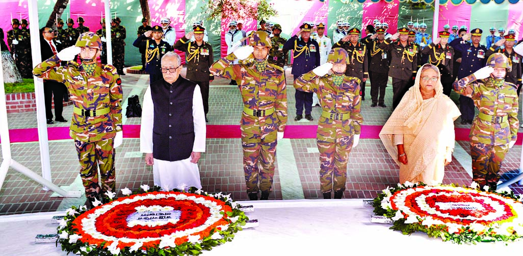 PM pays tribute to Bangabandhu
