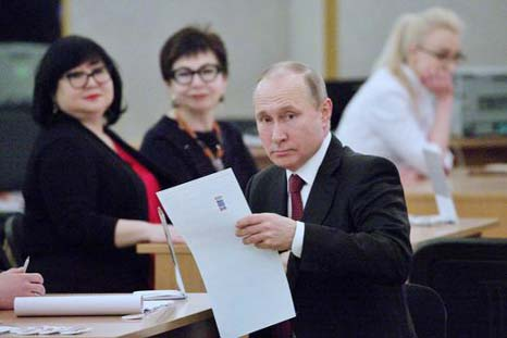 Putin eyes fourth term as Russians go to polls