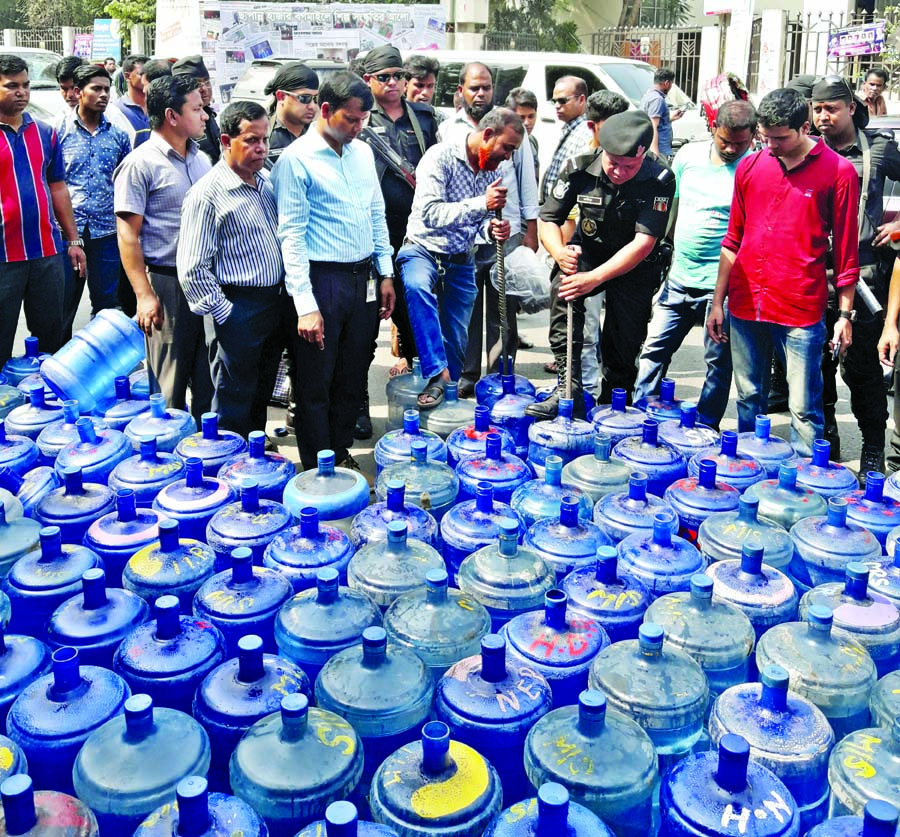5 illegal jar water cos fined