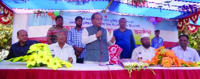 CHAPAINAWABGANJ: Abdul Wadud MP speaking at a discussion meeting marking the birth anniversary of Bangabandhu and National Children's  Day organised by Chapainawabganj Polytechnic Institute as Chief Guest  on Saturday.