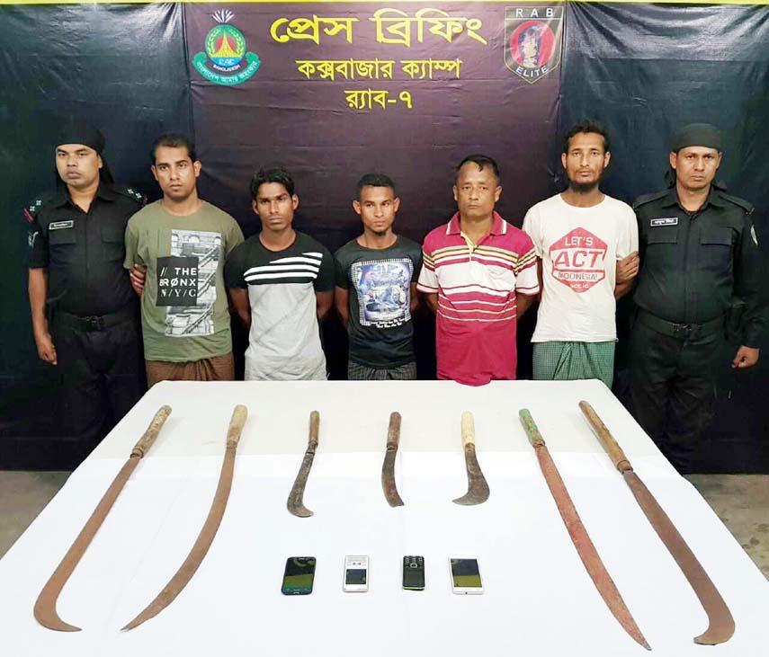 5 Rohingya 'robbers' held in Cox's Bazar