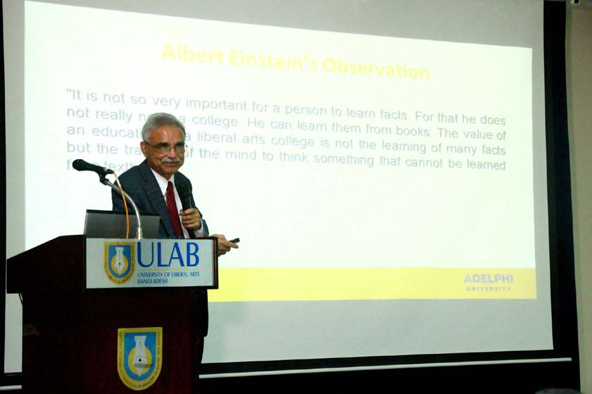 Talk on 'Liberal Arts Education' at ULAB