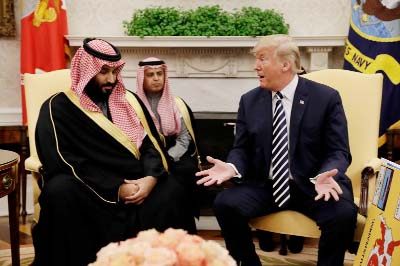 Trump meets Saudi Crown Prince, announces $12.5b arms sales