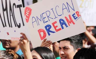 'Dreamers' angry as Trump blames Democrats over immigration