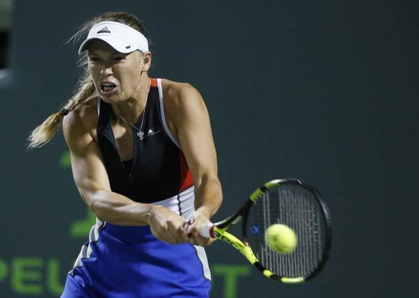 Wozniacki, Osaka crash out of WTA Miami Open