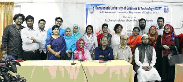 Participants are seen at a pose for photo after a workshop on survey ideas held at Bangladesh University of Business and Technology on last Wednesday.