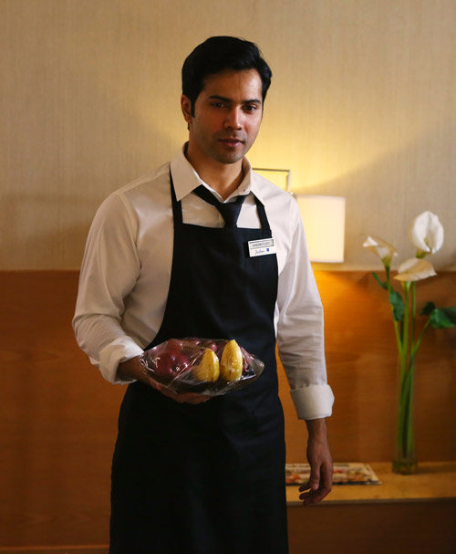 Image result for October feast: Varun Dhawan turns a hotel employee in real life. See photos
