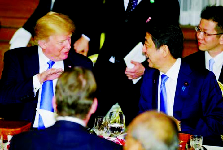 Trump, Abe seek consensus on N Korea amid strains