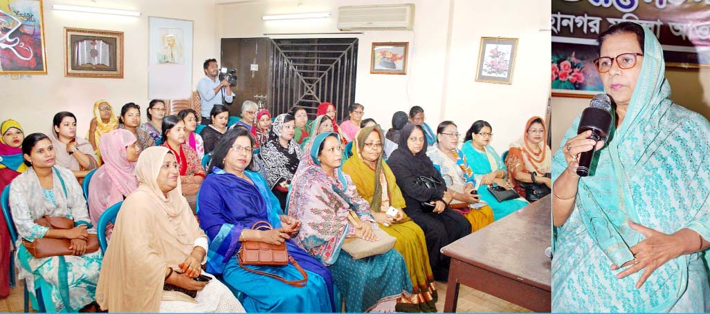 Hasina Mohiuddin, President, Chattogram Mahila Awami League speaking at the discussion meeting on the occasion of the historic Mujibnagar Day on Tuesday.