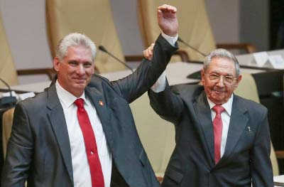 Cuba's new President Diaz-Canel vows to 'continue' revolution