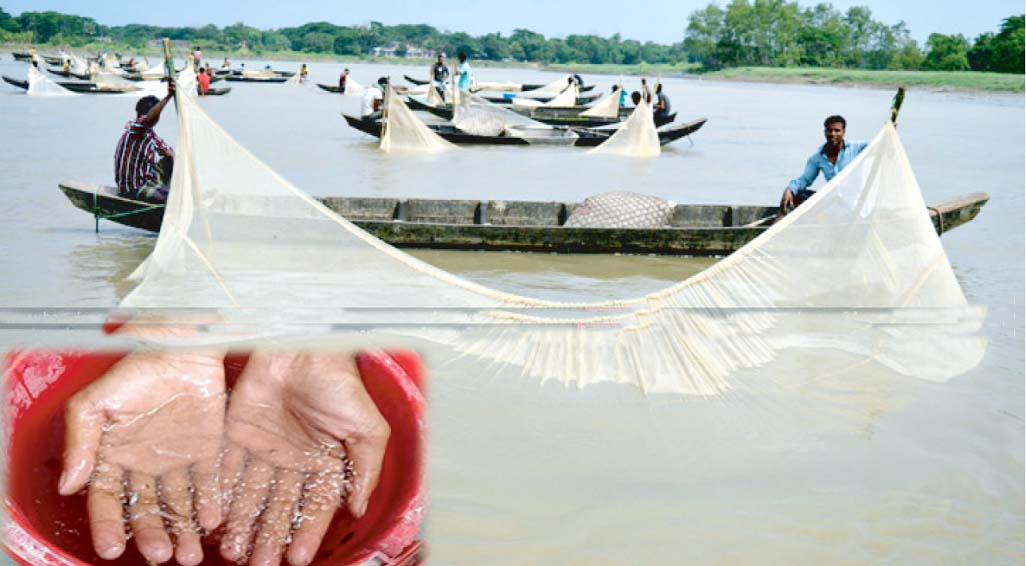Fishermen delighted for release of huge fish spawn in Halda River