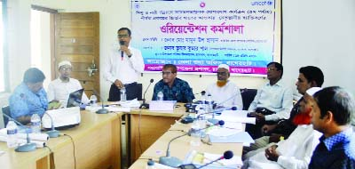 RAMPAL (Mongla): Rampal  Tushar Kumar Paul, UNO, Rampal Upazila speaking at an  orientation workshop on awareness building activities for the development of children and women's nutrition arranged by District Information Office was held in Rampal on Wednesday.