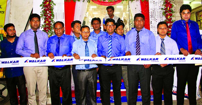 RN Paul, Managing Director of RFL Group, inaugurated an outlet 'Walker, a footwear brand of RFL Group at Station Road of Guptopara, in Rangpur city recently. Kamrul Hasan, Chief Operating Officer and Mainul Hasasn, Brand Manager of the brand, among others, were also present.