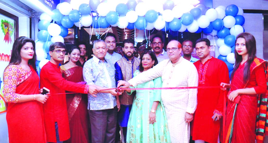 Pabon Kumar, Chairman of Gitanjoli Jewelers, inaugurating its 3rd branch at Japan Garden City area in Mohammadpur on Friday. Md Enamul Haque Chowdhury, Editor of The Daily Sun among others were also present.