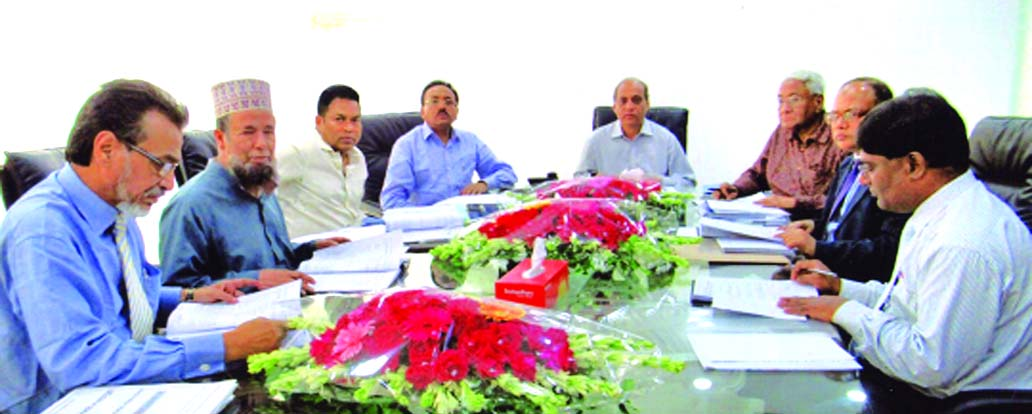 Md. Anowar Hossain, Chairman, Board of Directors of Islami Commercial Insurance Company Limited, presiding over its 62nd meeting at its head office in the city recently. Niaz Ahmed, Claims Committee Chairman, M Kamaluddin Chowdhury, Mohammad Yahya, Directors and Mir Nazim Uddin Ahmed, CEO of the company among others were also present.