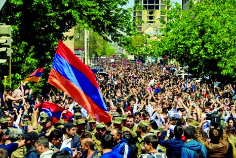 Armenia unites to mark Ottoman massacres after leader quits