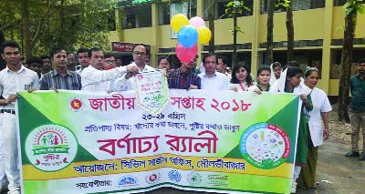 MOULVIBAZAR: Moulvibazar Civil Surgeon Office brought out a rally in observance of the National Nutrition Week on Monday.