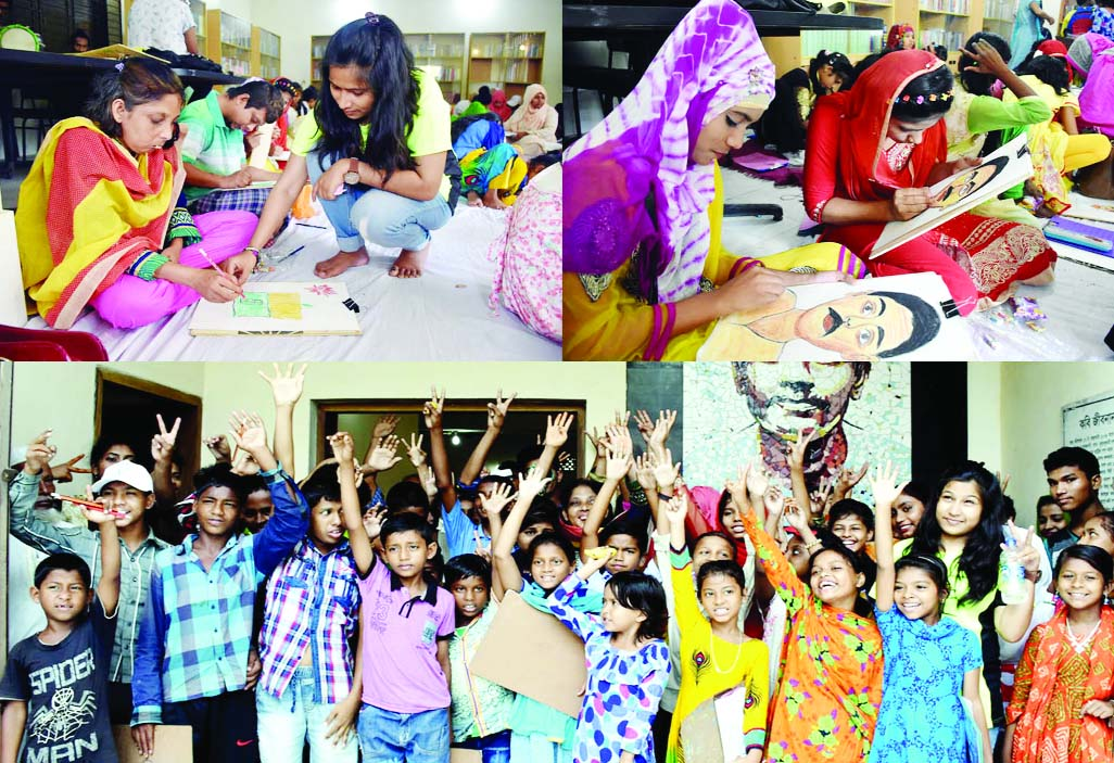 BARISHAL :  A day long art-camp for underprivileged  children  was held at Jibanananda Auditorium on Wednesday.
