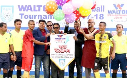 Opening ceremony of Walton Under-18 Football Tournament at the Bangabandhu National Stadium on Thursday.