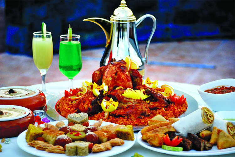 Middle Eastern cuisine at Dhaka Regency's Iftar