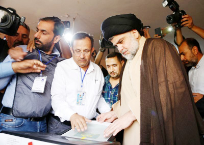Cleric Sadr wins Iraq election but forming govt far off