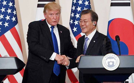 Trump, Moon discuss N Korea's threat to scrap summit