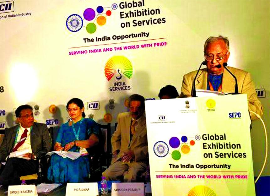 Jahangir Bin Alam, CEO of India-Bangladesh Chamber of Commerce and Industry (IBCCI) addressing at a seminar on