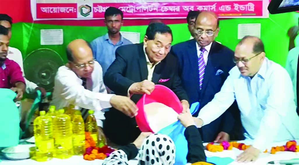 Chattogram Metro Chamber of Commerce President Md. Khalilur Rahman inaugurated sale of essentials at fair prices in city's Baizid areas on Monday.