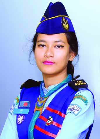 DIU Air Rover Scout's Group Rover-mate Jui Roy joins Bhutan's study tour