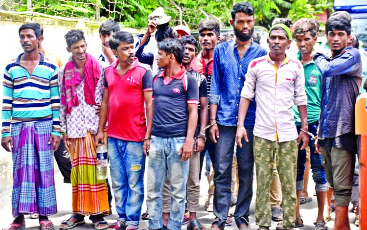 61 dope party men held in city