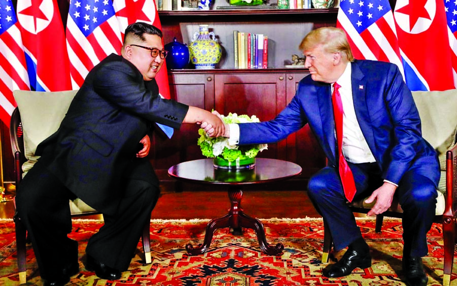 * Security guarantee for N Korea : Trump * World will see a major change: Kim * Deal symbolic, no result : Analysts