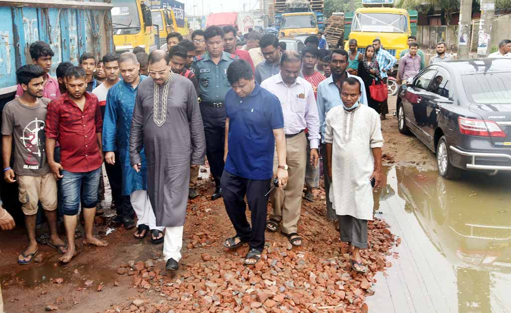 CCC Mayor AJM Nasir Uddin visiting development work of Agrabad and Port Connecting road recently.