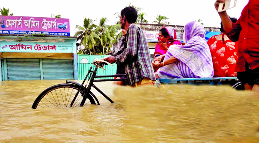 Flood hits Sylhet, M`bazar areas