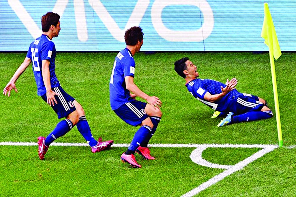 Japan win over Colombia 2-1