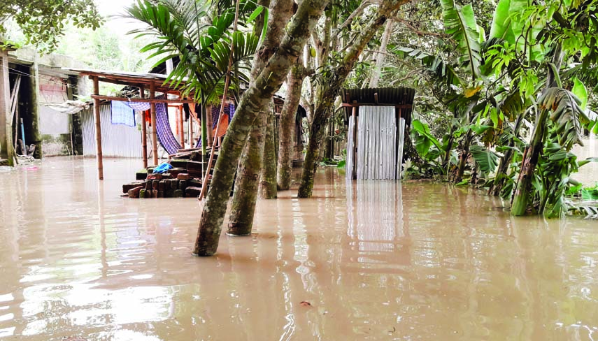 HABIGANJ:  Kushiyara  River Erosion has taken a serious turn at Digholbak Union by flooding 25 villages on Tuesday.